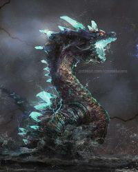 Abyssal Lagiacrus by Aeflus