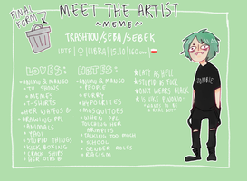 Meet The Artist meme by trashtou