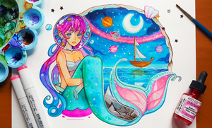 +Space Mermaid+ by larienne