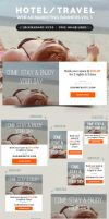 Hotel / Travel Web Ad Marketing Banners Vol 1 by webduckdesign