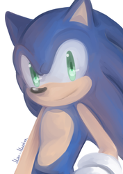 Sonic + Glasses ver. by miko-maestra