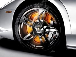 Lamboghini Glowing Disc brakes by haz999