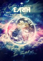 KEEP A EYE ON OUR EARTH by DVArtworks