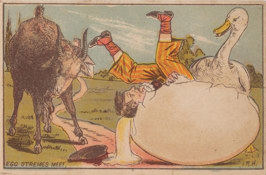 Victorian Advertising - Egg Stremes Meet by Yesterdays-Paper