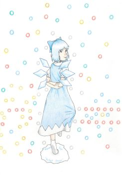 Cirno - Freeze Sign 'Perfect Freeze' by ForgottenUmbrella
