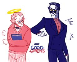 Good Omens: The Romantic Comedy by cocokat
