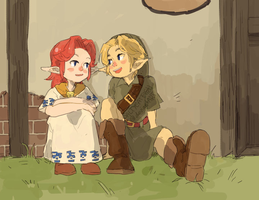 LoZ: Just Chillin' by saltycatfish
