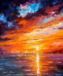 Across The Ocean by Leonid Afemov by Leonidafremov