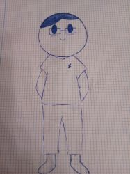me as a bad and unfinished chibi drawing by Manueljlin