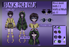Updated Creepypasta OC- Annie Reference Sheet by Amyhip