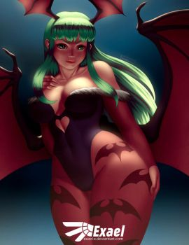 Morrigan [NSFW Gumroad optional] by Exael-X