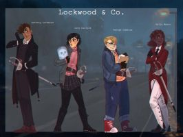 Lockwood and co main characters lineup by Gapiju