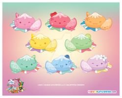 Kawaii Mochi Spectrum Series by KawaiiUniverseStudio