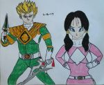 The Green and Pink Ranger by JQroxks21