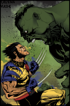 Ult. Hulk and Wolverine-Revise by merkz