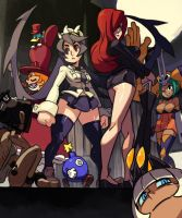 Skullgirls GameFan Magazine Cover by oh8