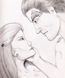 Kay and Chuckles- pure sketch by Star-Trek-Couples
