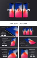 Brand PowerPoint Template New IPhone X Update by hemalaya