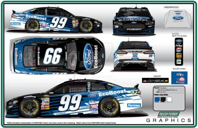 2014 Roush Fenway #99 EcoBoost Ford Fusion by graphicwolf