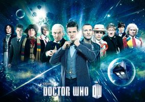 Doctor Who - Eleven Doctors poster by DisneyDoctorWhoSly23