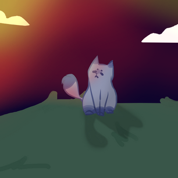 Sunset Kitty by s417532