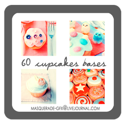 Icon Bases - Cupcakes by deviantales
