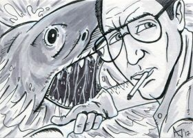 Jaws Sketch Card by AtlantaJones