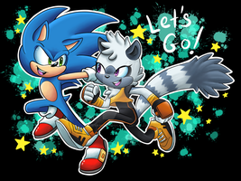 Sonic and Tangle fan art by VanessaSonica