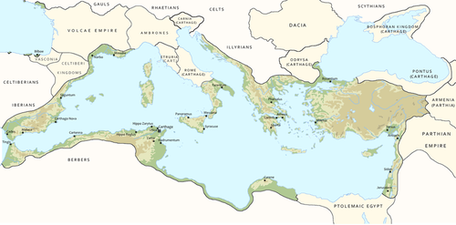 The Empire of Carthage, at its height in 150 AD by Mekul565