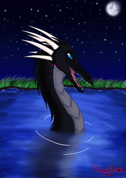 Dragon in Water by DragonAnalei