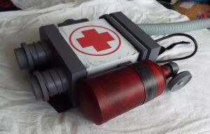 TF2 Medic Cosplay - Backpack Prop by Springtrap-97