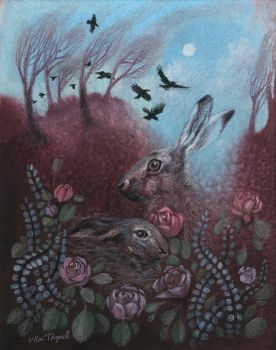 Hares and Crows by ullakko