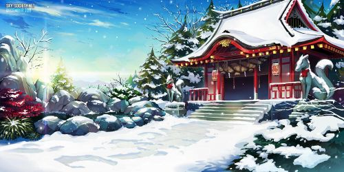 Shinto Shrine - Winter by ofSkySociety