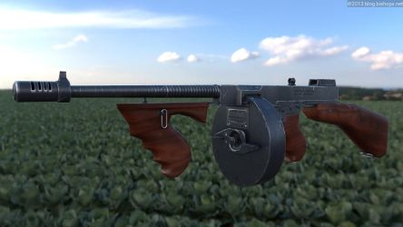Lowpoly Thompson 1928 by chrbet
