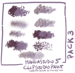 MangaStudio 5 - clip studio paint - brushes pack3 by martinacecilia