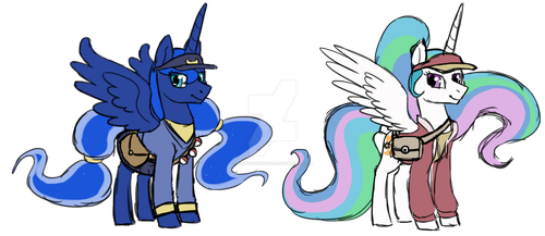 Luna and Celestia Pokemon Sun and Moon Outfits by AshsAdventures