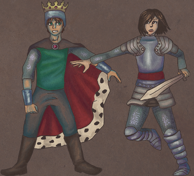 King and Lionheart by cherrybubblegum
