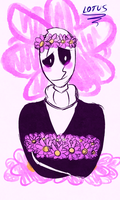 Gaster and the Asters by LotusTheKat