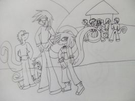 lora and co scetch by wolfwrathgirl