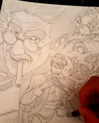 Dylan Dog tribute wip by giuseppe92