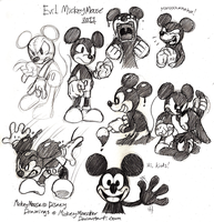 Evil Ink Mickey Mouse Doodling by Mickeymonster