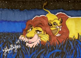 Mufasa and Simba moment by jpbijos