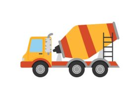 Concrete Mixer Truck Flat Vector by superawesomevectors