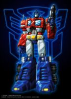 Colours- Optimus Prime Standup by JasonCardy