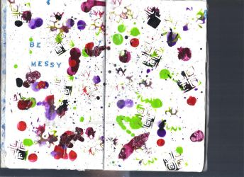 Sketchbook Project Page 26+27 by hannahakaskatergirl