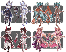 [2/4 OPEN] Guest Lockette Adopts by caitiecat-adopts