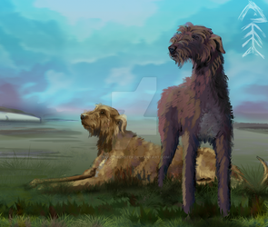 Wolfhounds by cold-monster