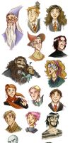 Potterfaces colored_1 by roby-boh