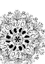 Wedding greeting card zentangle by Sillageuse