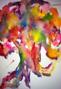 Watercolor Tree by AngelicbyJones